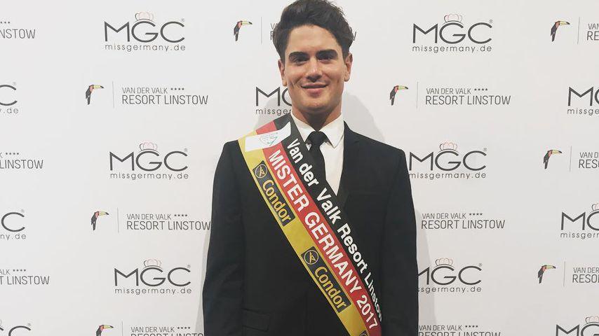 Dominik Bruntner nach der Wahl zum Mister Germany 2017