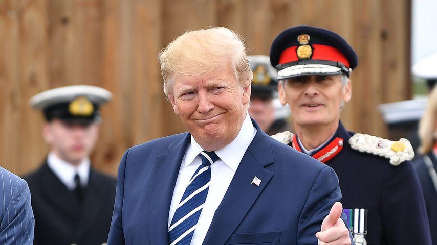 Donald Trump während seines Staatsbesuchs in England