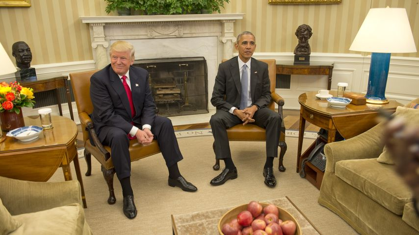 Donald Trump und Barack Obama im Oval Office