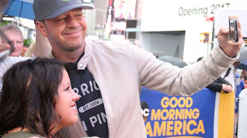 Selfie-King: Donnie Wahlberg knipst sich zum Weltrekord!