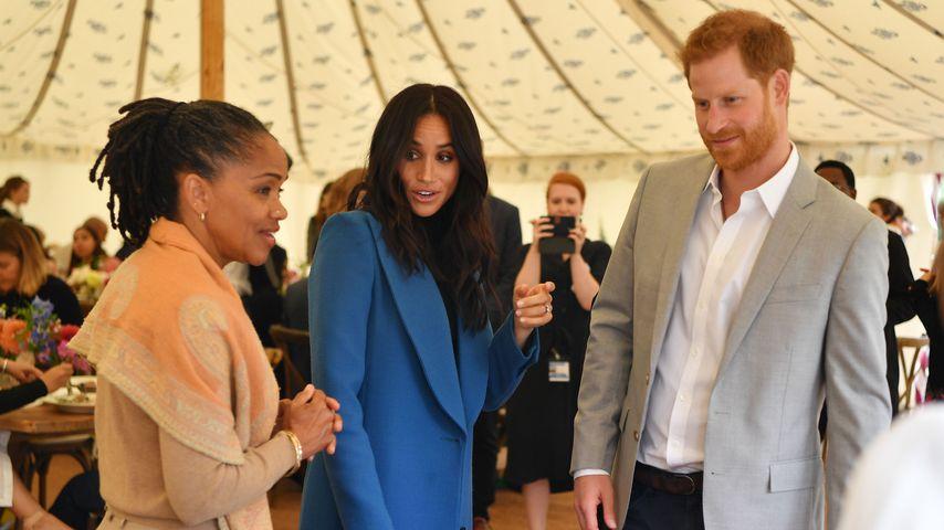 Doria Ragland, Herzogin Meghan und Prinz Harry im September 2018