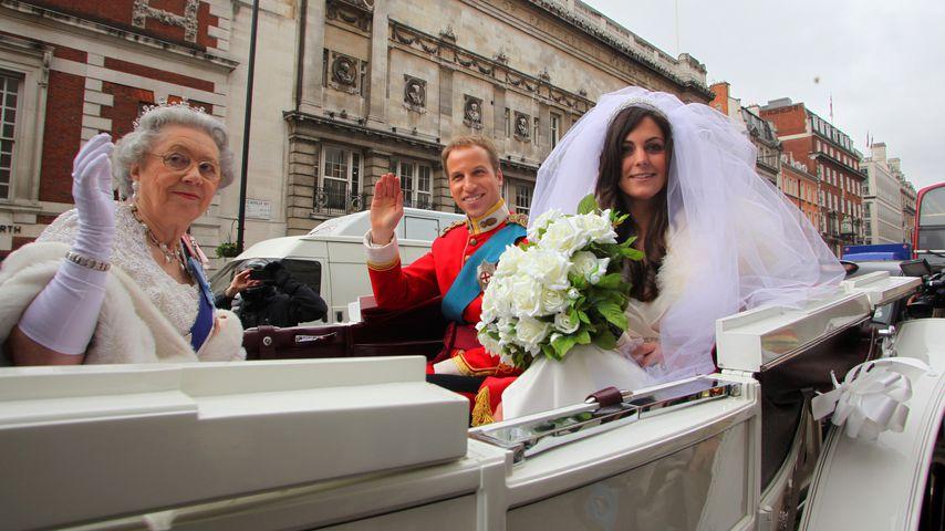 Doubles der britischen Queen, Prinz William und Herzogin Kate 2011