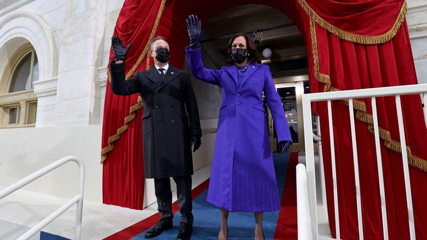Douglas Emhoff und Kamala Harris bei ihrer Vereidigung in Washington D.C. im Januar 2021