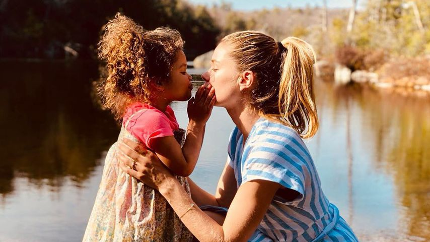 Doutzen Kroes mit ihrer Tochter Myllena, Juli 2019