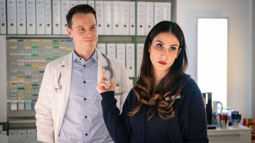 "Dr. Jan Kühnert (Marc Dumitru), Samira Akgün (Sila Sahin-Radlinger) in ""Nachtschwestern"""