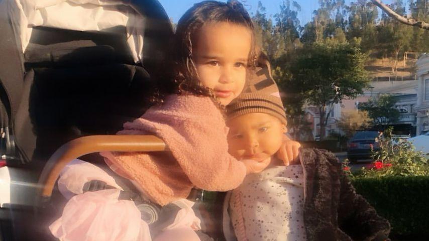 Dream Renee Kardashian mit ihrer Cousine True Thompson