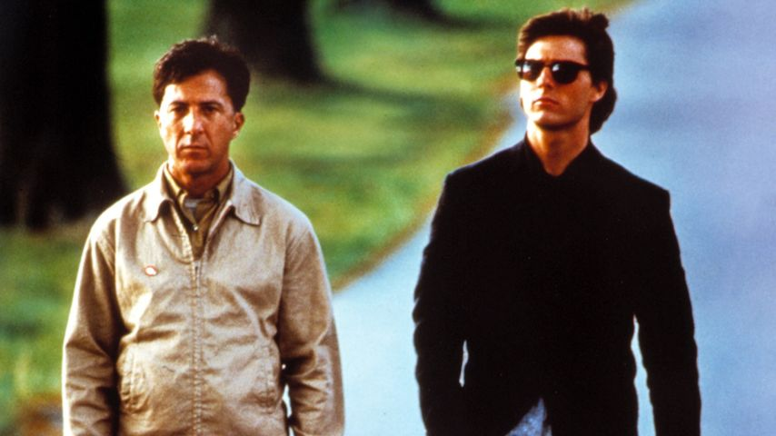 "Filmszene aus ""Rain Man"": Dustin Hoffman (l.) und Tom Cruise"