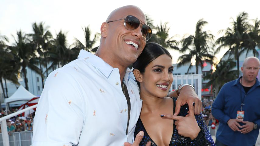 "Dwayne Johnson und Priyanka Chopra bei der ""Baywatch""-Premiere in Miami 2017"