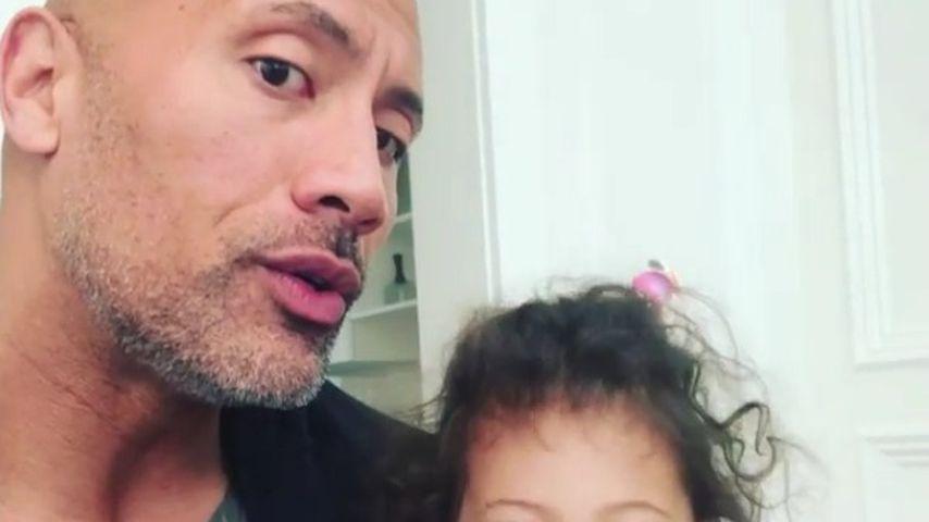 Nach Notruf: The Rock postet süßes Video seinem Töchterchen!