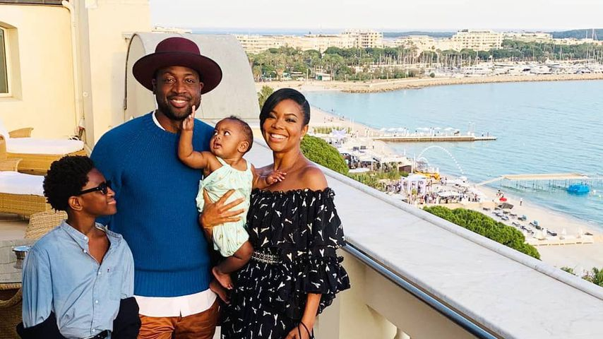 Dwayne Wade und Gabrielle Union mit ihren Kindern Kaavia und Zion