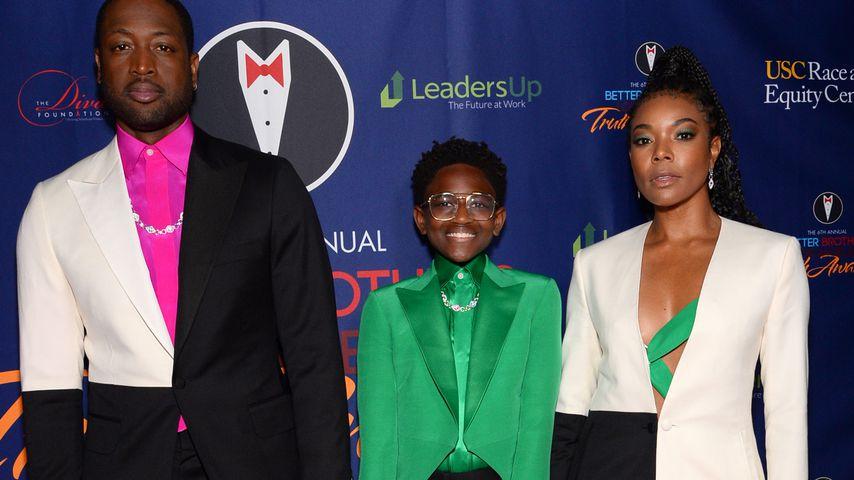 Dwyane Wade, Zaya Wade und Gabrielle Union bei den Truth Awards in L.A. im März 2020