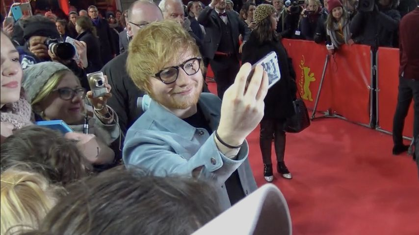 Ed Sheeran in Berlin: Selfie-Marathon in klirrender Kälte!