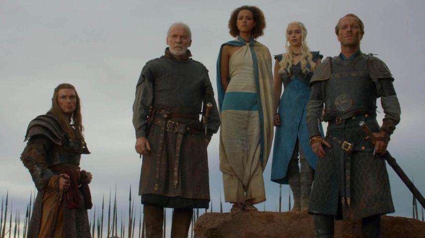 Emilia Clarke, Nathalie Emmanuel und Ed Skrein
