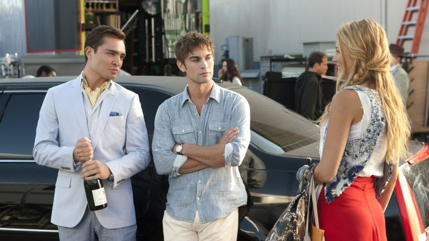 "Ed Westwick, Chace Crawford und Blake Lively in ""Gossip Girl"""