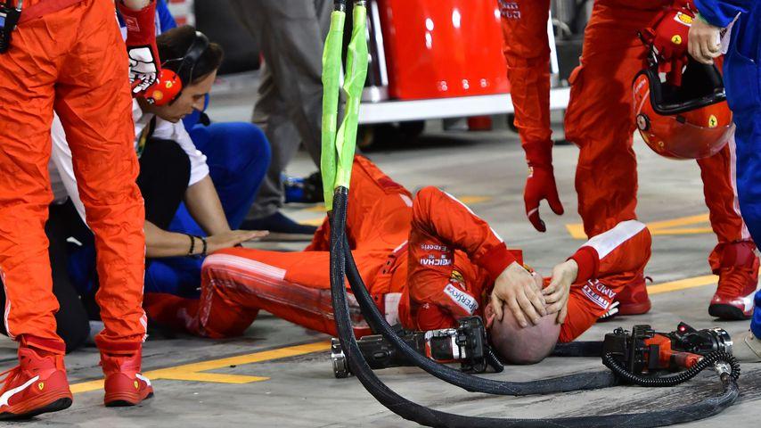 Horror-Unfall: Formel-1-Star Räikkönen überfährt Mechaniker!