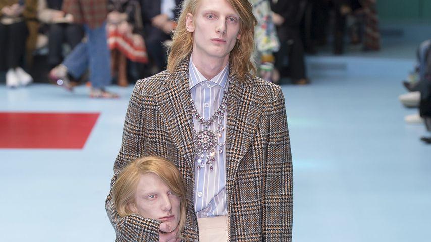 Ein Model bei der F/W 2018 Show von Gucci in Mailand