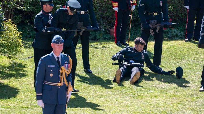 Ein Soldat auf Prinz Philips Beerdigung