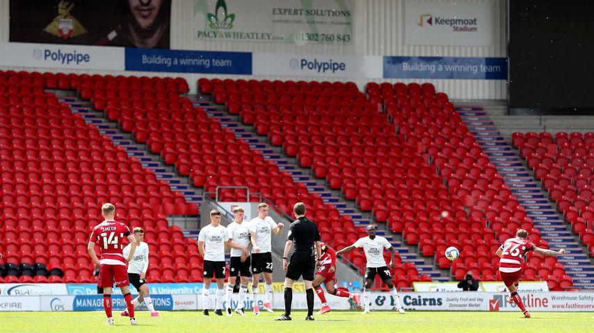 Ein Spiel der Doncaster Rovers