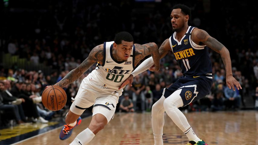Das NBA-Spiel zwischen Utah Jazz und den Denver Nuggets