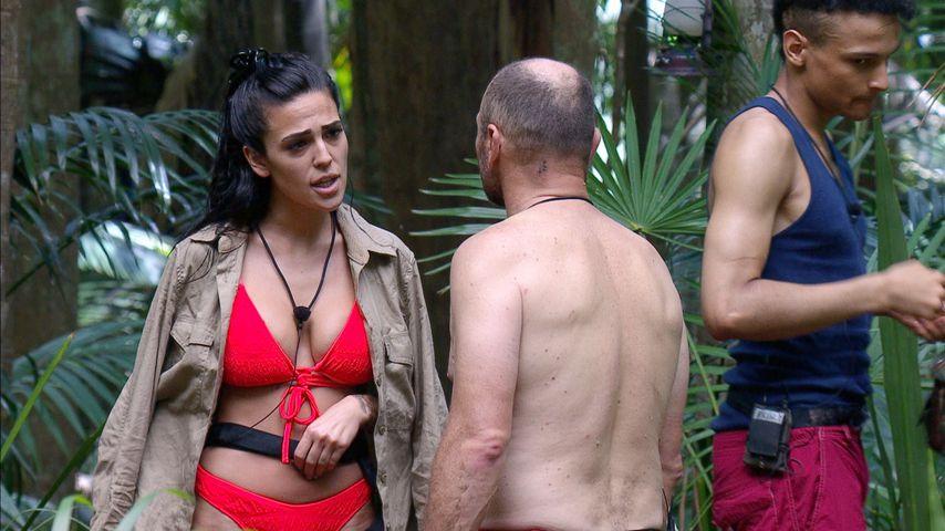 Elena Miras, Sven Ottke und Prince Damien an Tag 13 im Dschungelcamp