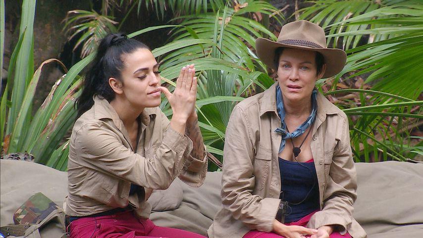Elena Miras und Sonja Kirchberger an Tag 7 im Dschungelcamp