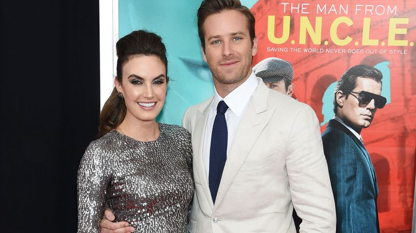 "Elizabeth Chambers und Armie Hammer bei der Premiere von ""The Man From U.N.C.L.E."" in New York"