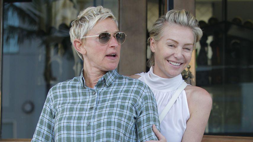Ellen DeGeneres und Portia de Rossi unterwegs in West Hollywood