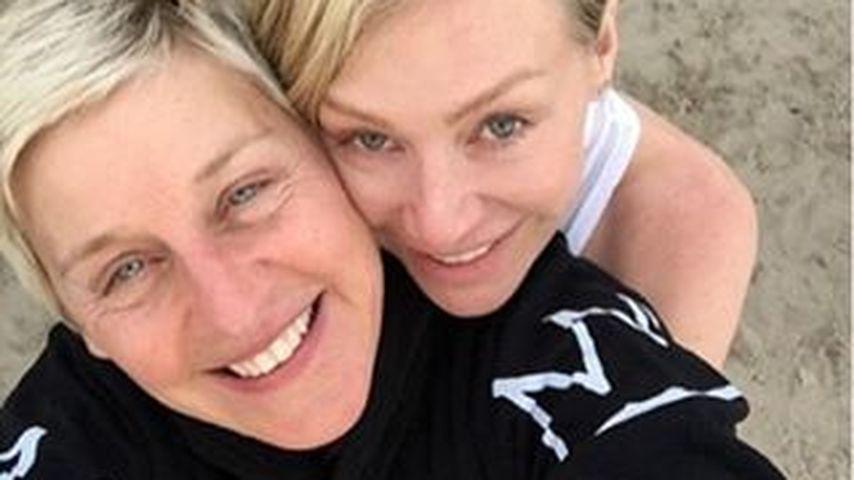 Seltenes Liebes-Pic: Ellen DeGeneres kuschelt mit Portia
