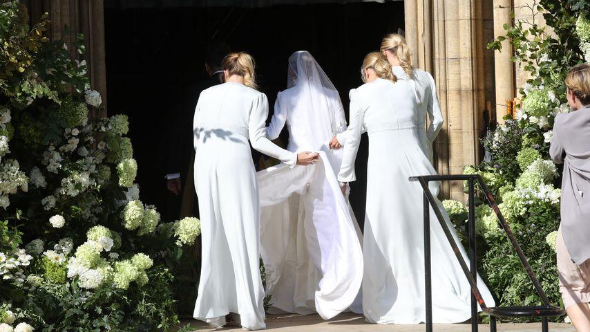 Ellie Goulding und ihre Brautjungfern in York Minster, 2019