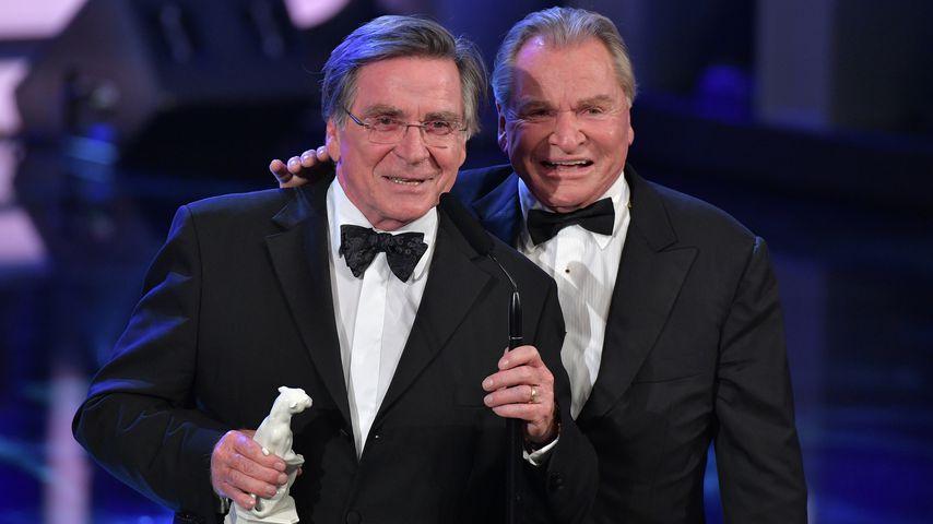 Elmar und Fritz Wepper beim Bayrischen Filmpreis, 2019