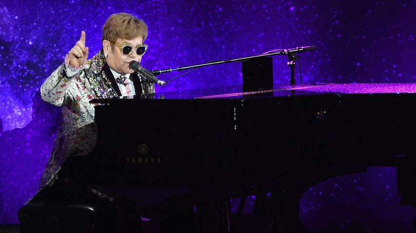 Elton John bei einem Auftritt in New York