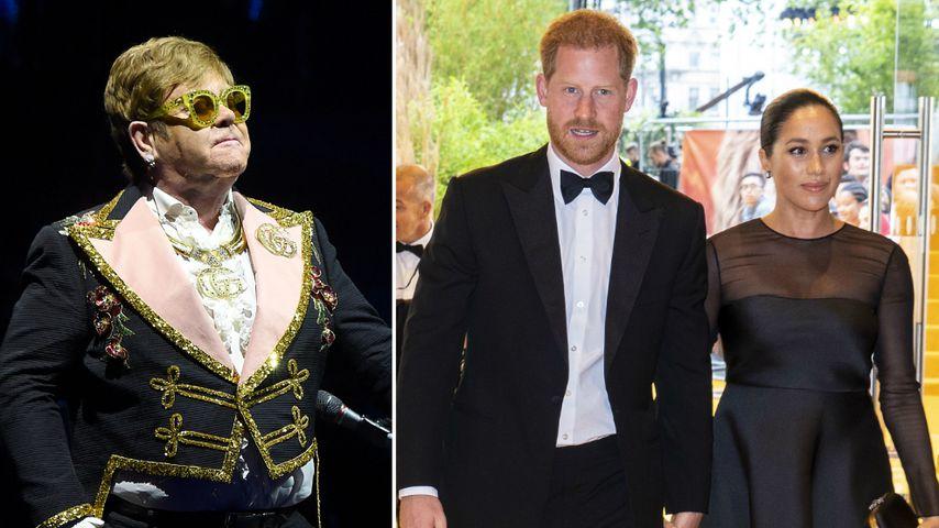 Royale Flugscham?:Elton John springt Harry und Meghan bei