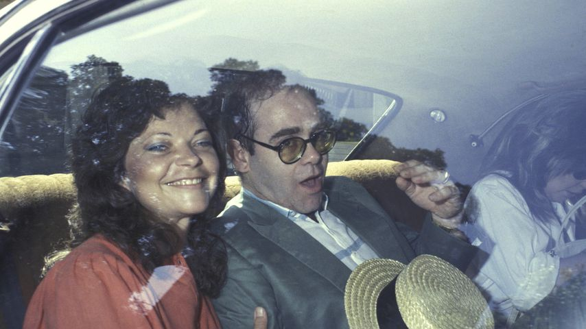 Elton John und Renate Blauel, Februar 1984