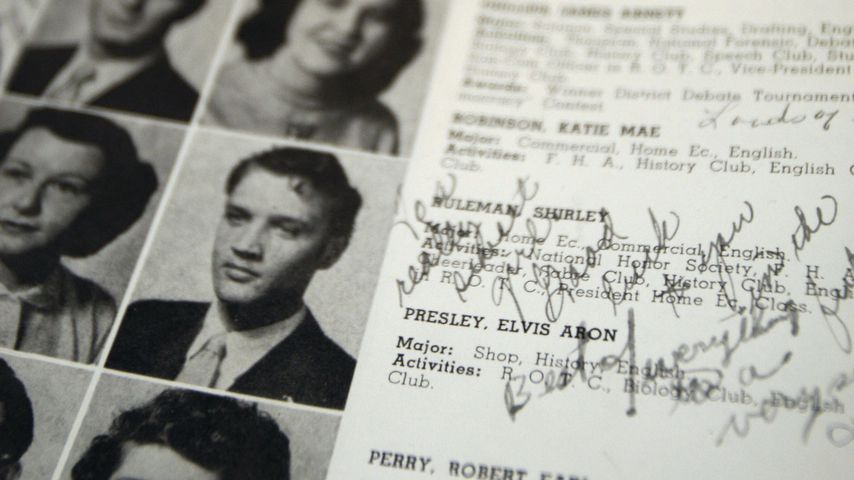Elvis Presley im Jahrbuch