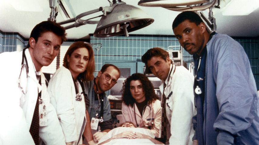 Noah Wyle, Sherry Stringfield, Anthony Edwards, Julianna Margulies; George Clooney & Eriq La Salle
