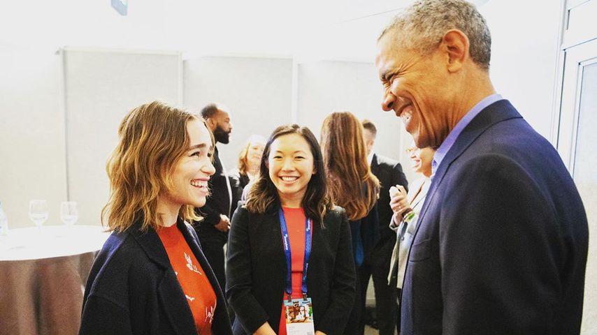 Emilia Clarke und Barack Obama, November 2019