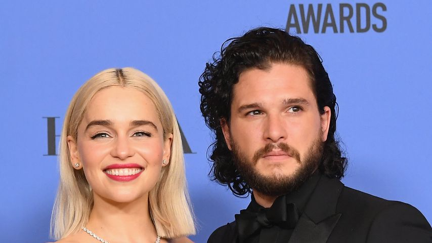 Emilia Clarke und Kit Harington bei den Golden Globe Awards 2018