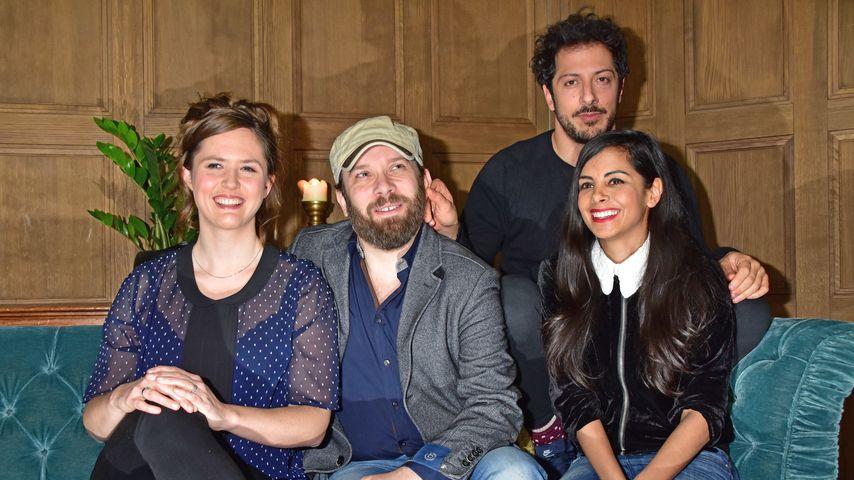 Emily Cox, Christian Ulmen, Collien Ulmen-Fernandes und Fahri Yardim im Soho House in Berlin