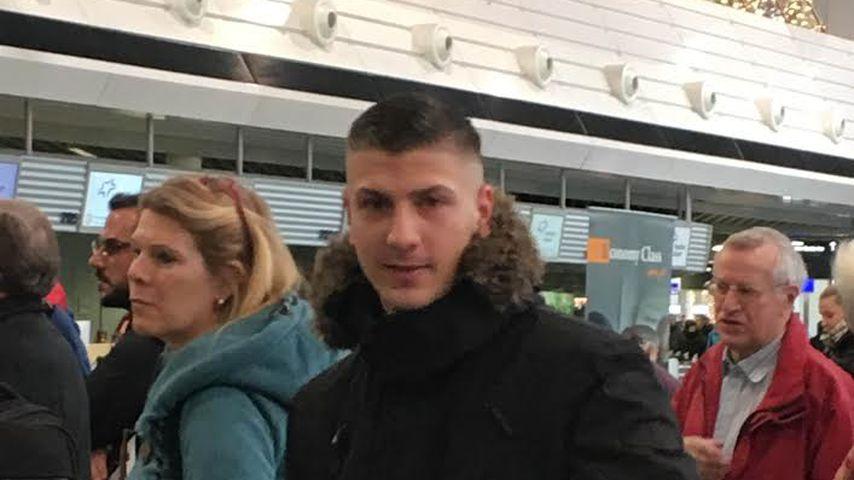 Emir Kücükakgül am Frankfurter Flughafen