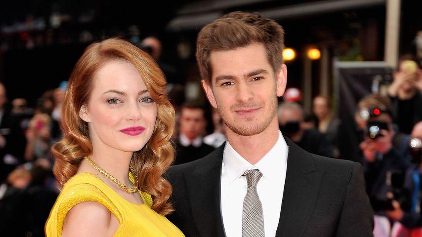 """Emma Stone und Andrew Garfield bei der Weltpremiere von """"The Amazing Spider-Man 2"""" 2014"""