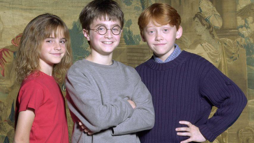 Emma Watson, Daniel Radcliffe, Rupert Grint, August 2000