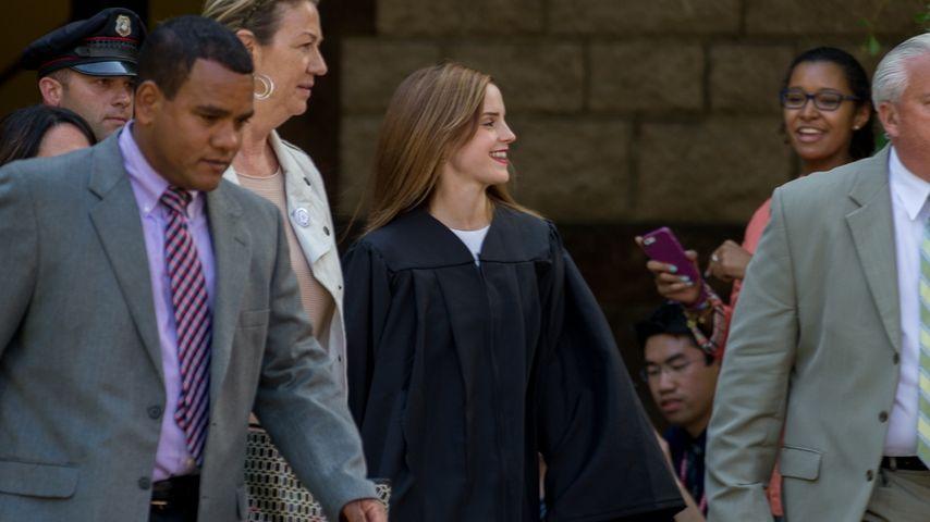 Polizei-Schutz: Emma Watson feiert Uni-Abschluss
