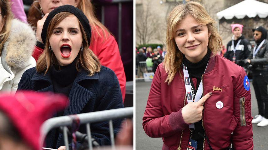 """Emma Watson und Chloë Grace Moretz beim """"Women's March"""" in Washington"""