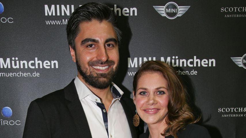 Emrah Karakoc und Felicitas Woll bei der Präsentation des neuen Mini im Kesselhaus in München