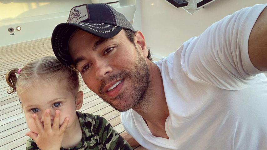Enrique Iglesias mit seiner Tochter Mary