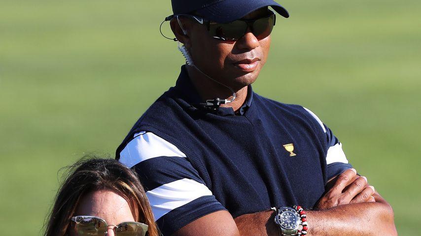 Profigolfer Tiger Woods mit seiner Freundin Erica Hermann