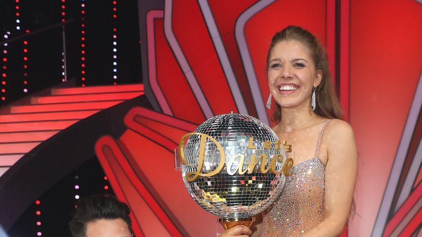 Erich Klann und Victoria Swarovski nach ihrem Sieg bei Let's Dance