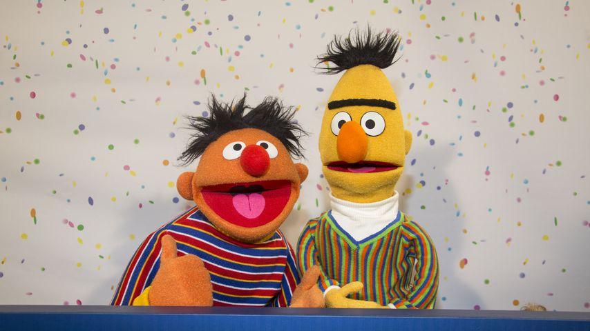 Ernie und Bert beim 40. Geburtstag der Sesamstraße in den NDR-Studios Hamburg