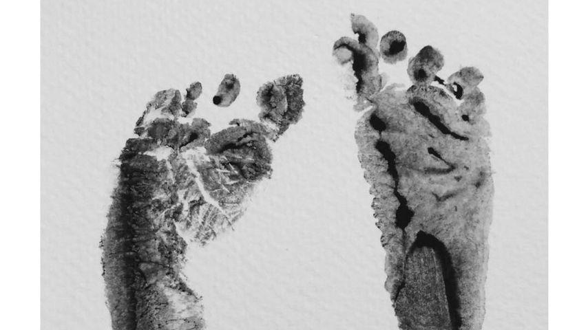 Erste Fußabdrücke von André Schürrles Tochter Kaia