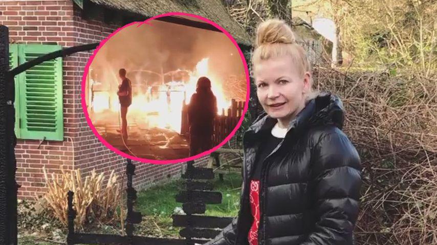 Flammen im Urlaub: Bei Wetterfee Eva Imhof hat es gebrannt!